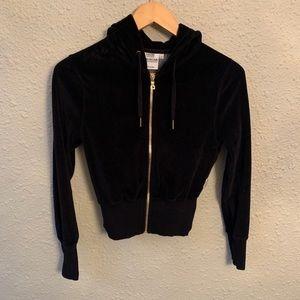 Good American Velour zip up Jacket